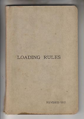 1915 Railroad Booklet - Loading Rules - Master Car Builders' Association Chicago
