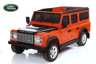 Land Rover® Defender Electric Ride On Toy Car - Orange (OFFICIALLY LICENSED)