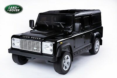 Land Rover® Defender Electric Ride On Toy Car - Black (OFFICIALLY LICENSED)