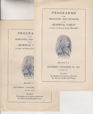 17 1923-53 Booklets/programs - Major Joseph Bloomfield Chapter D.a.r. New Jersey