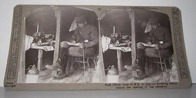 Wwi Stereoview - Staff Officer From G.h.q - Realistic Travels