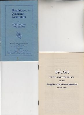 7 1933-54 Publications - Daughters Of The American Revolution Of New Jersey
