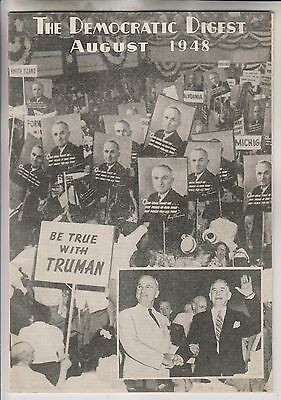 August 1948 - The Democratic Digest - Democratic Convention - Truman