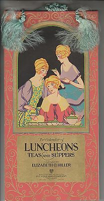 Vintage Recipe Calendar - Luncheons Teas And Suppers - By Elizabeth O. Hiller