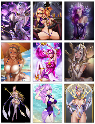 "LEAGUE OF LEGENDS - Lux 9-pc Stickers Set - 2.5""x3.25"" (PS4, XBOX, GAME)"
