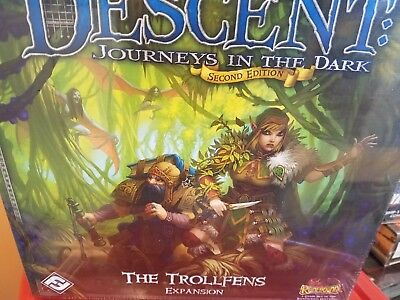 Descent Trollfens Expansion 2nd Edition Board Game Sealed New FFG