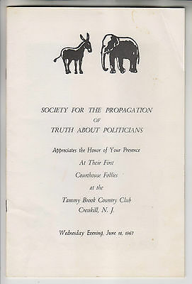 1967 Program - Courthouse Follies - Tammy Brook Country Club Cresskill Nj