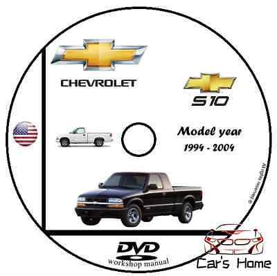 MANUALE OFFICINA CHEVROLET S-10 my 1994 - 2004 WORKSHOP MANUAL SERVICE DVD