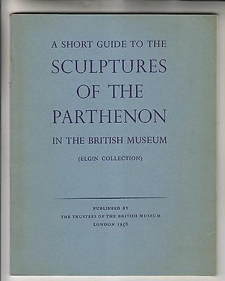 1958 Booklet - Sculptures Of The Parthenon In The British Museum