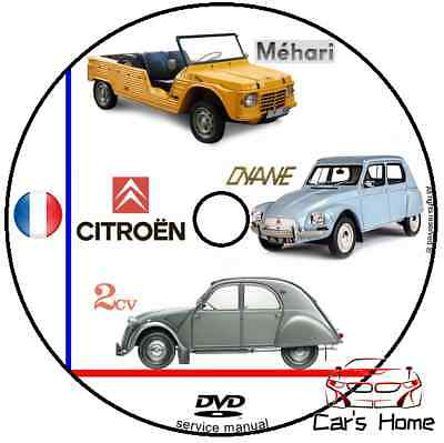 Manuale Officina Citroen 2Cv Dyane Mehari 3Cv My '63 Workshop Manual Service Dvd