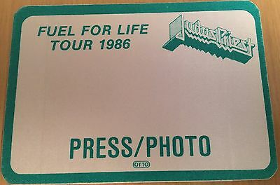 Pase De Tela - Ticket - Entrada - Judas Priest - Fuel Tour 1986 - Press/photo