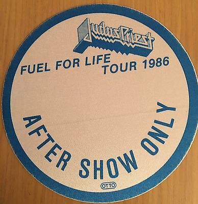 Pase De Tela - Ticket - Entrada - Judas Priest - Fuel Tour 86 - After Show