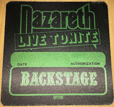 Pase De Tela - Ticket - Entrada De Concierto - Nazareth - Backstage -Live Tonite