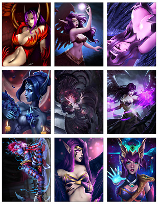 "LEAGUE OF LEGENDS - Morgana 9-pc Stickers Set - 2.5""x3.25"" (PS4, XBOX, GAME)"