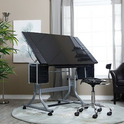 Architect Drafting Table Art Designer Table Tilt Angle Desk Adjustable Height