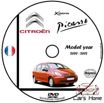 MANUALE OFFICINA CITROEN XSARA PICASSO my 2000-2002 WORKSHOP MANUAL DVD