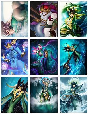 "LEAGUE OF LEGENDS - Nami 9-pc Stickers Set - 2.5""x3.25"" (PS4, XBOX, GAME)"
