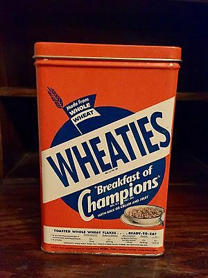 WHEATIES Tin Cereal Box Vintage Reproduction Bristolware 1993
