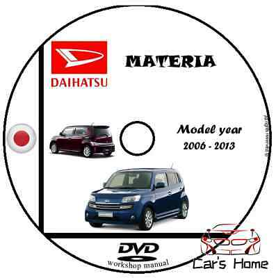MANUALE OFFICINA DAIHATSU MATERIA my 2006 - 2013 WORKSHOP MANUAL SERVICE DVD