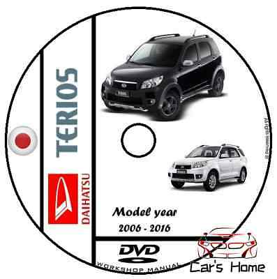 Manuale Officina Daihatsu Terios My 2006-Oggi Workshop Manual Service Cd Dvd