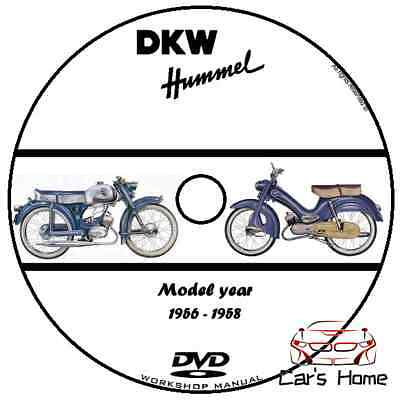 Manuale Officina Dkw Hummel My 1956 - 1958 Workshop Manual Service Cd Dvd