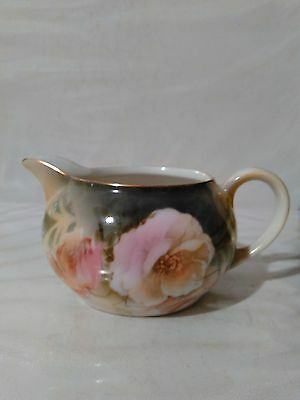@ Vintage R & S Germany Creamer 2 In. High Rose Pattern