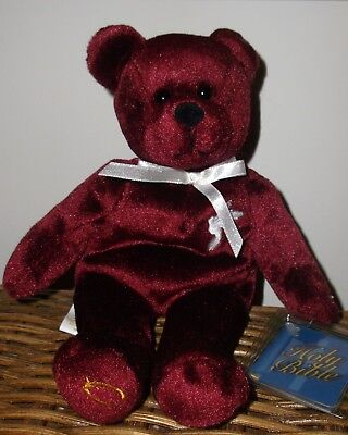 Holy Bears Grace Sacrament Series 1999 New with Mint Tag Burgundy White Dove