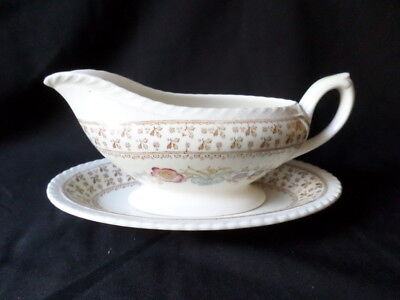 Crown Ducal. Knutsford. Gravy Boat and Plate. Made In England.