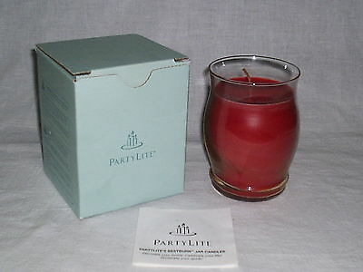 PartyLite 11 oz Bestburn Barrel Jar Candle in Candied Apples Scent ~ New in Box!