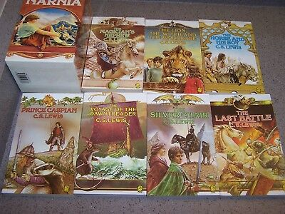 C.S LEWIS - complete Chronicles Of Naria boxed set 1989