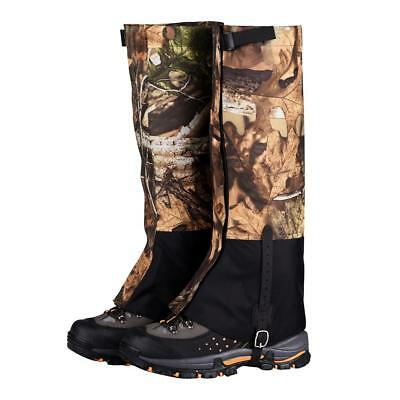 Camo Waterproof Outdoor Hiking Walking Climbing Skiing Snow Legging Gaiters