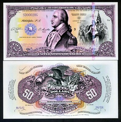 USA, 50 dollars, Private Issue Polymer, 2019 - Benedict Arnold, 500 notes issued