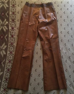Vintage Leather Whipstitch Pants