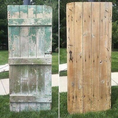 "Green Barn Door Antique Patina 72"" x 29"" original hardware"