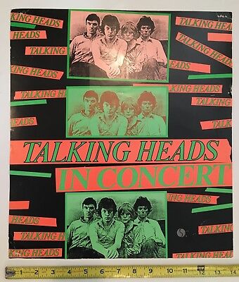 Talking Heads Original 1977 Sire Records Tour Promo Display Poster