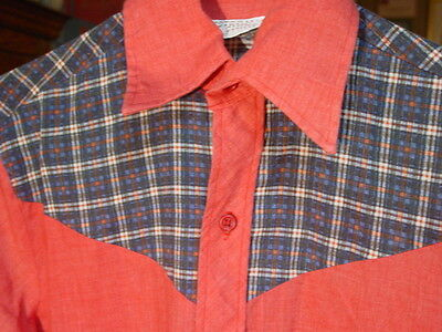 Vintage Western Shirt Brand Plaid & Red Shirt
