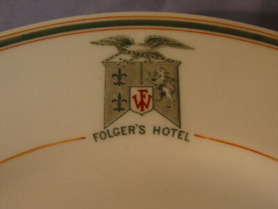 Vintage Maddock's American China Folger's Hotel Dinner Plate