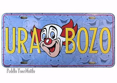 URA BOZO Collector Series License Plate Sign of the Times Metal Novelty NEW