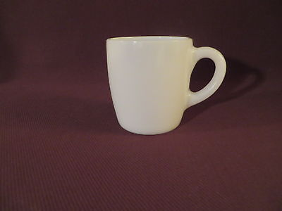 Vintage White Glass Coffee Cup - C-14 Molded in Bottom