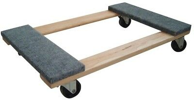 Buffalo Tools Durable Stable Wood Base 1000 lb. Capacity Moving Furniture Dolly
