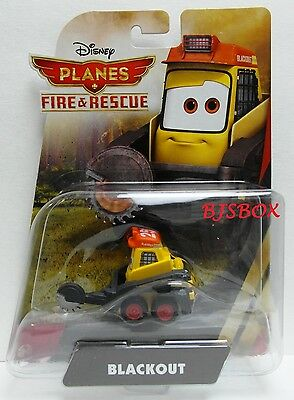 Disney Planes Fire & Rescue Blackout Skid Steer Log Cutter Plow Rare New Toy