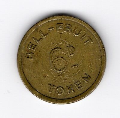 Bell Fruit Machine Token 6d or 2.5p nice R40056