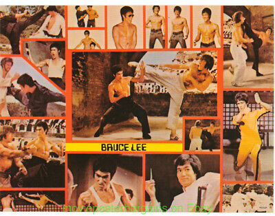 02e1a32a52b BRUCE LEE POSTER 1974 Original Vintage OSP MOVIE POSTER 8x12 Inch Thick  Card   2