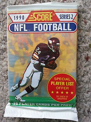 1990 NFL Score Series 2 American football cards unopened pack Rare Super Bowl