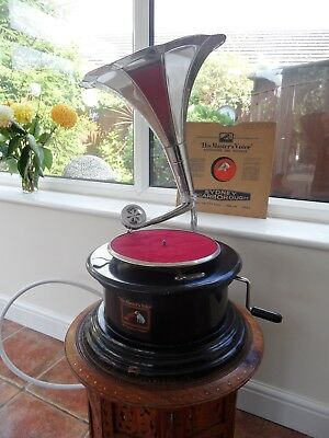 His masters voice Gramophone + record