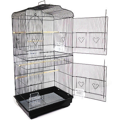 New Valentino XL Extra Large Metal Bird Cage Canary Finch Budgie Parrot Birdcage