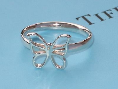 Tiffany & Co Sterling Silver Butterfly Band Ring