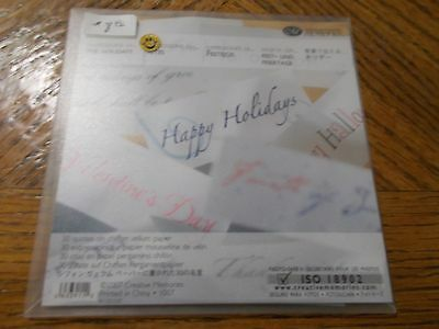 Creative Memories ~ Expressions of the Holidays ~ 30 Quotes- Chiffon Vellum Pape