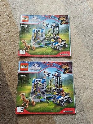LEGO Instructions only for set - 75920, Jurassic World