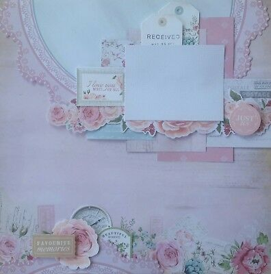 handmade premade scrapbook page layout 12 X 12 -  Just Us